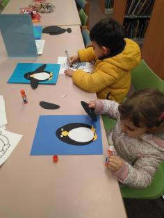 biblioteca taller pinguinos